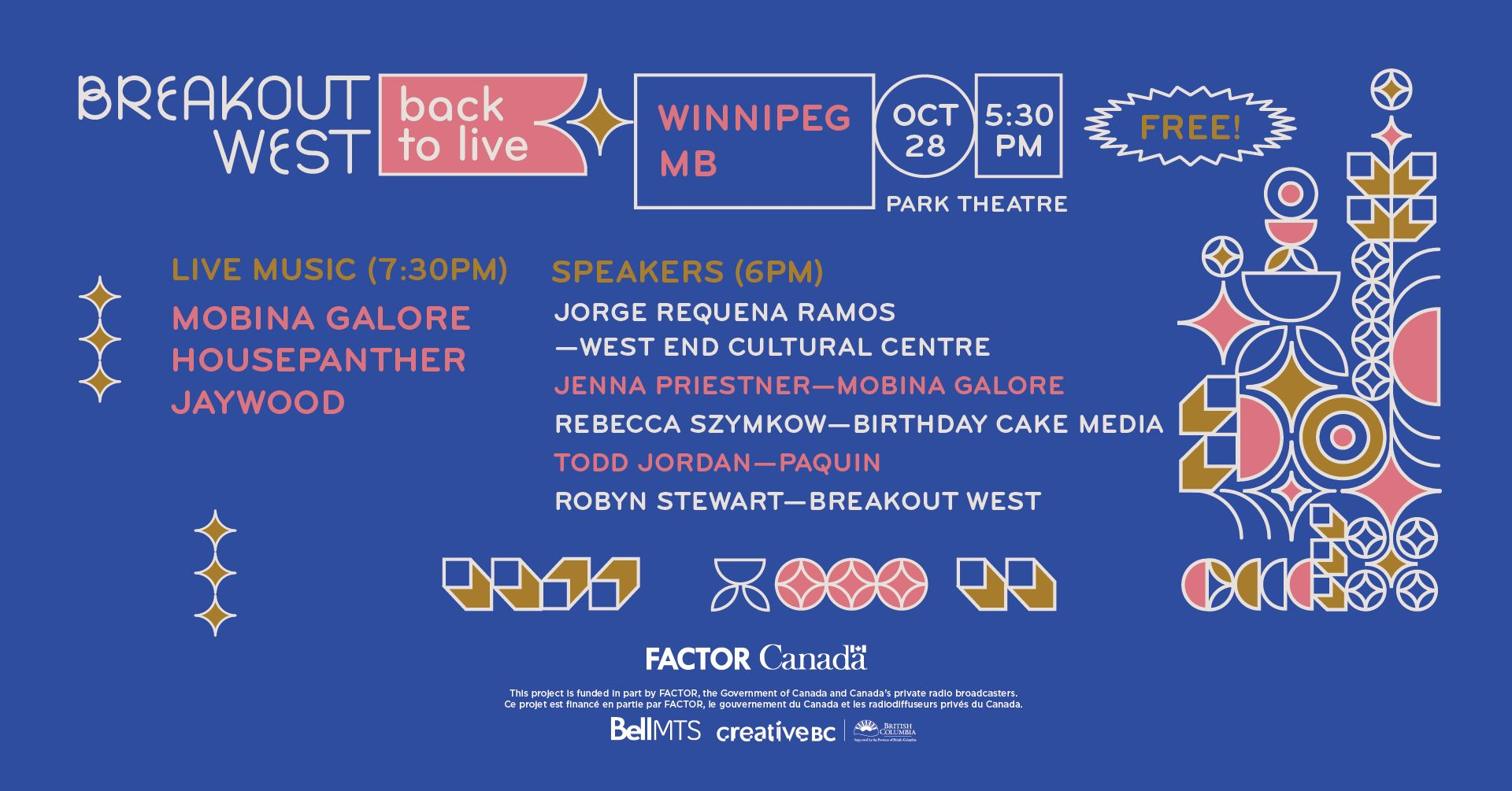 Back to Live - Winnipeg