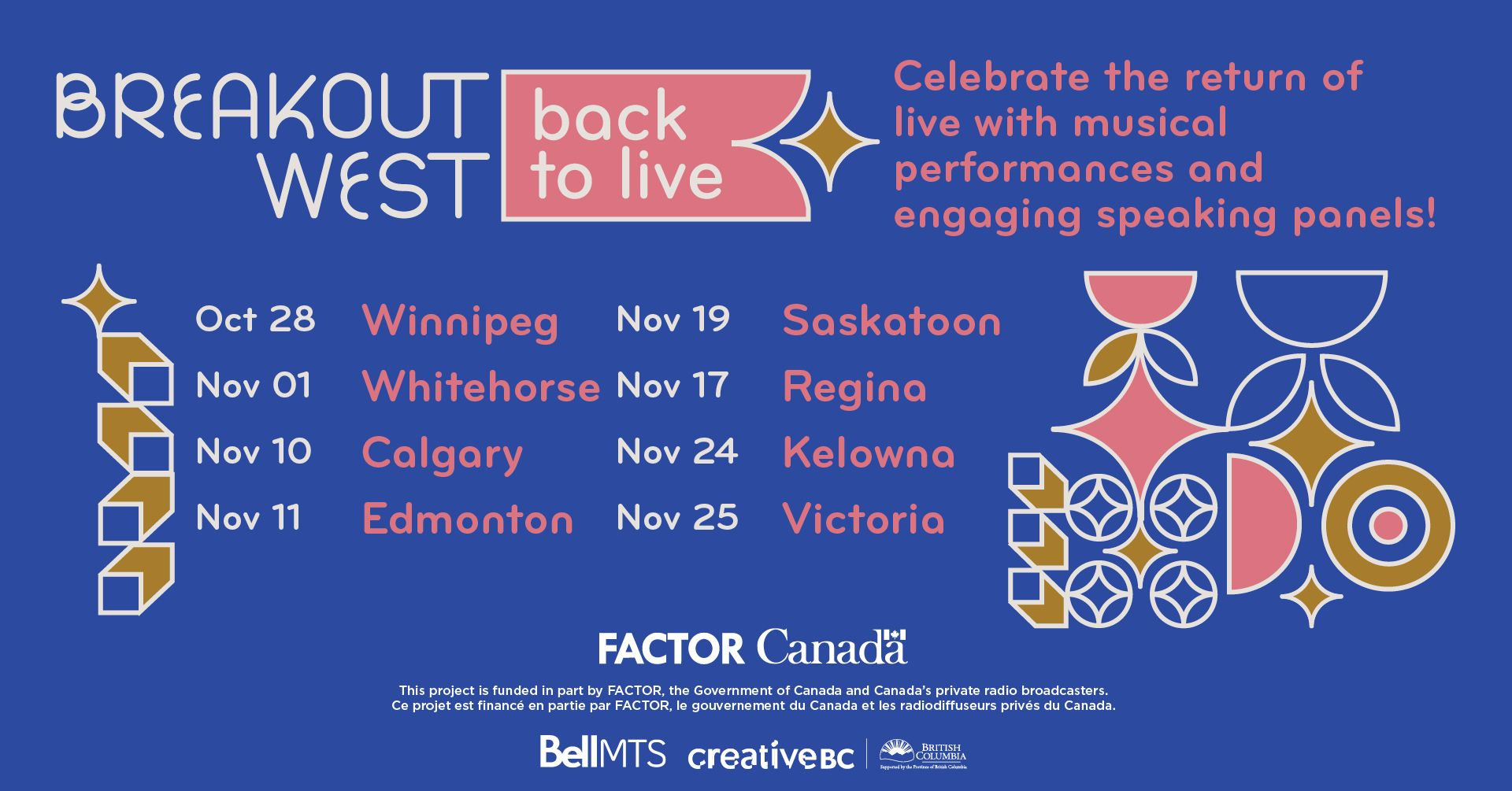 BreakOut West - Back to Live Announcement